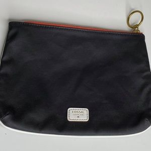 Fossil Black Cosmetic Bag For Travel